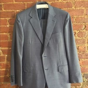 CANALI PINSTRIPE REGULAR TWO-BUTTON FULL SUIT WOOL